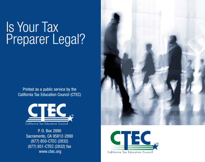 is your tax preparer legal